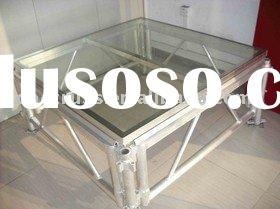 indoor & outdoor aluminum glass acrylic stage (mobile, moverable)