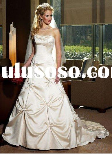 moderate bridal veil ball gown style wedding dress MA-387