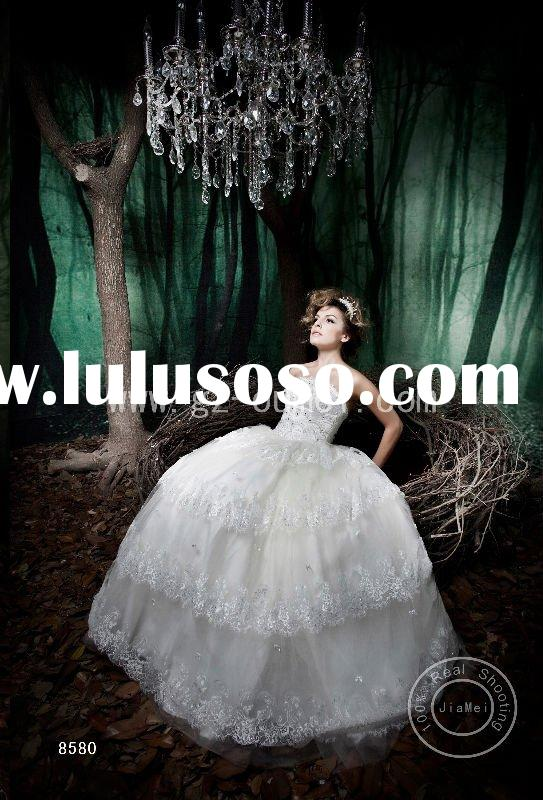 modern vintage  bride Wedding dress Lace Organza bead appliqued bridal gown