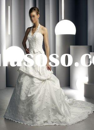modern wedding dress/bridesmaid gown HS104