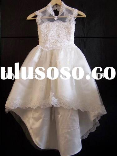 new Gorgeous sequins Sleeveless flower girls dresses