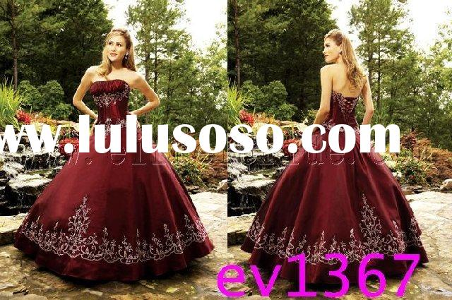 new style embroidered red wedding dress