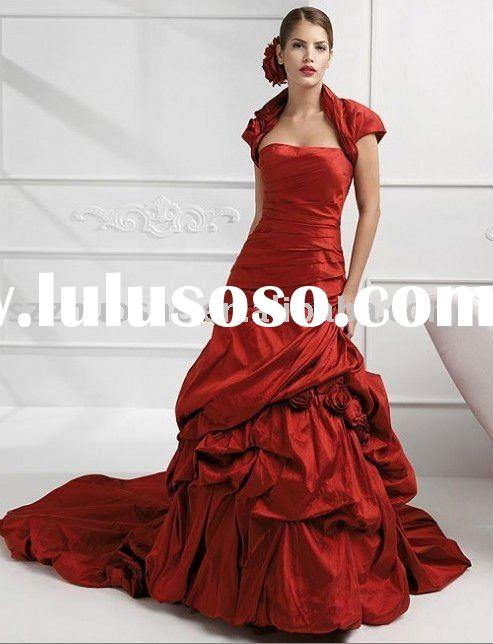 red wedding dress  BD1049
