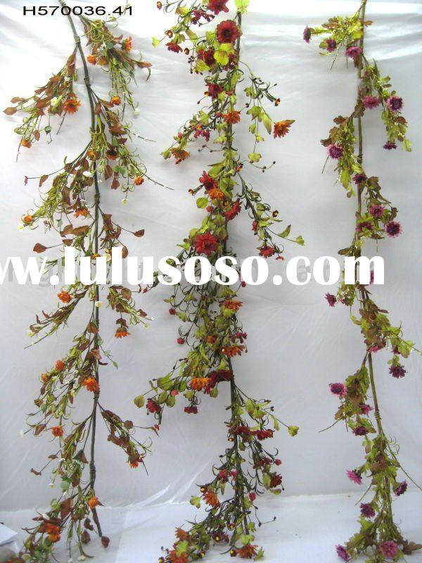 spring flower foliage; Artificial flower garland