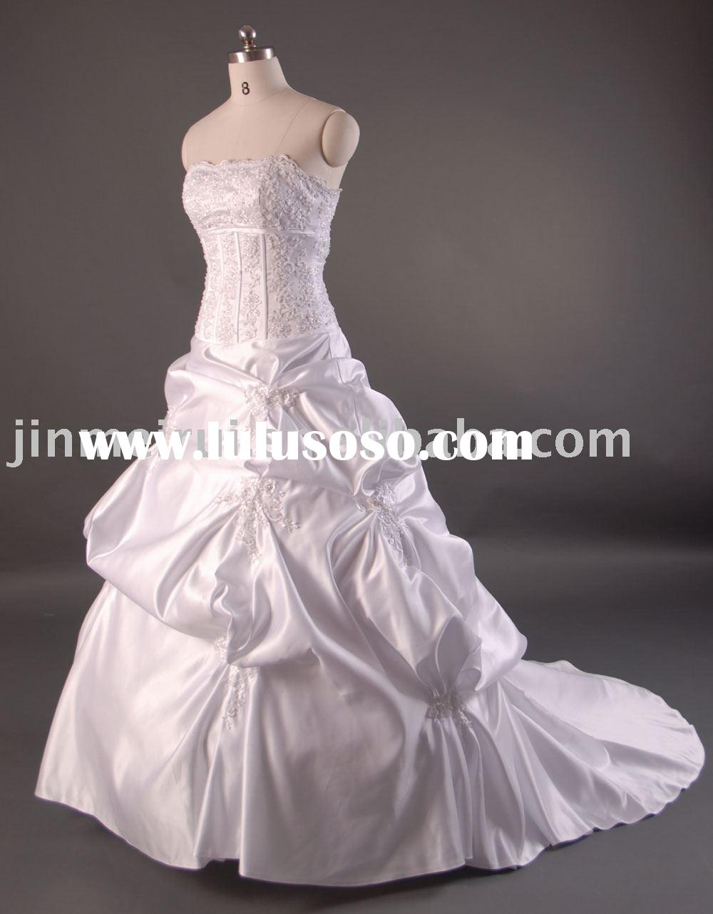 wedding gown dress tea length wedding dress, lace wedding dress  JR-8815