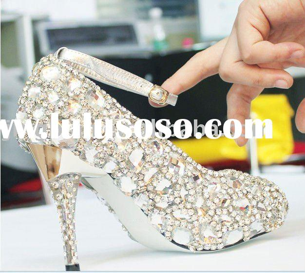 ws-102 rhinestones crystals shoes ,wedding shoes bridal shoes high heel shoes