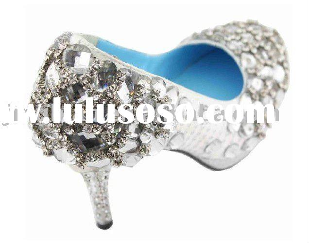 ws-110 crystals shoes bridal wedding shoes ,popular high heel shoes