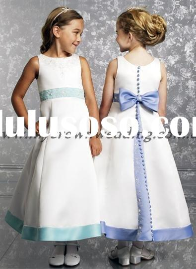 A line flower girl dresses for wedding 2011
