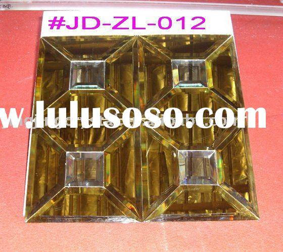 Crystal construction material tile