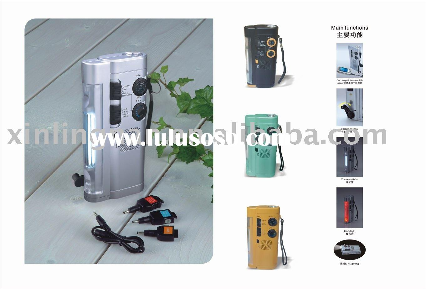 Manufacturer of dynamo flashlight radio with cellphone charger
