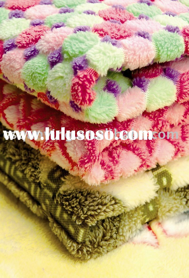 Three-dimensional Double-sided Printing Coral Fleece