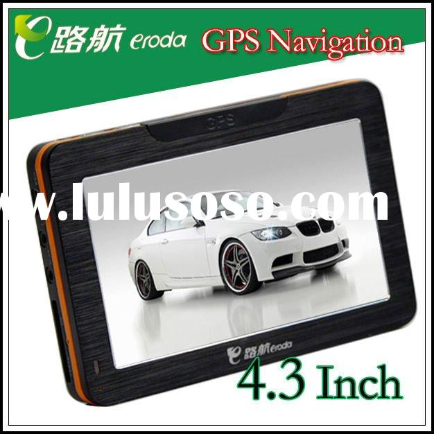 cheapest!! high quality!!!4.3 inch car gps with bluetooth av-in passed by CE,FCC