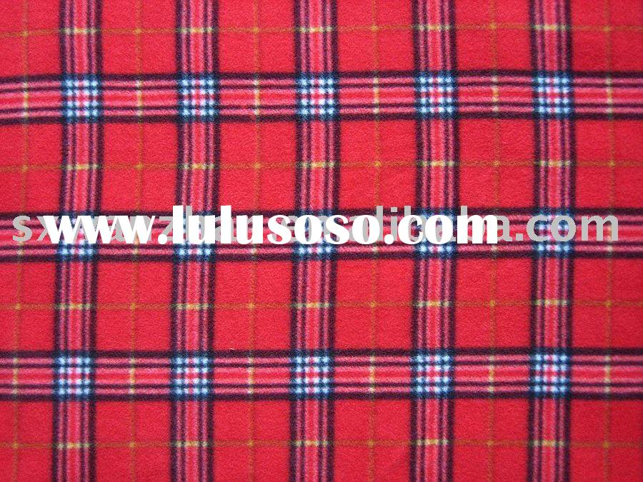 checked fleece fabric