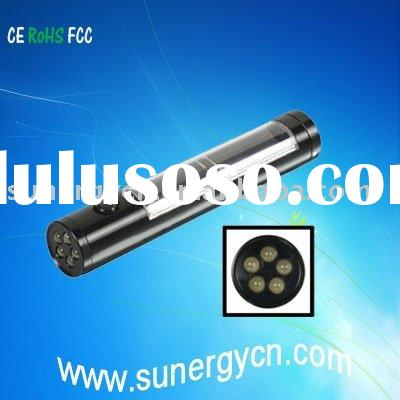 portable LED solar flashlight