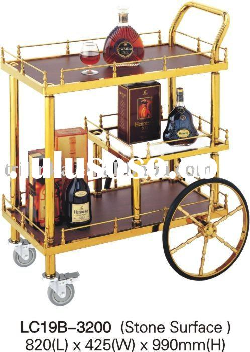Hotel Stainless Steel Wine Beverage liquor Cart Trolley