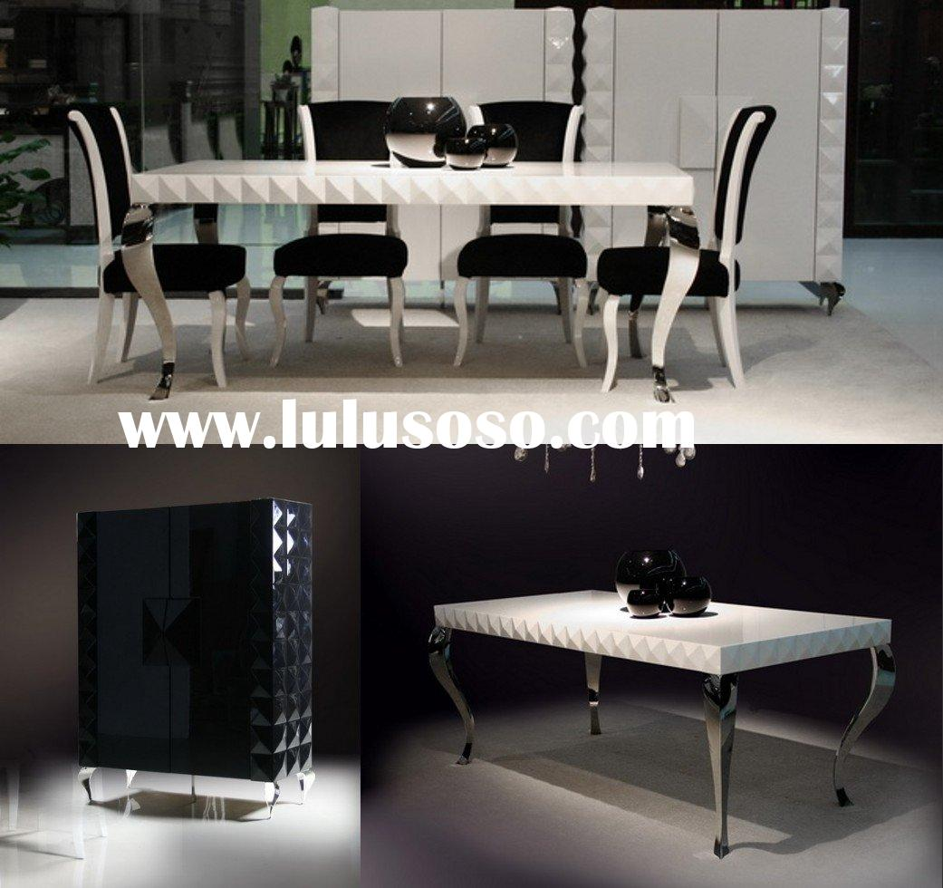 LS-208 glossy painting cabinet,dining table and chair,dining room furniture,teem