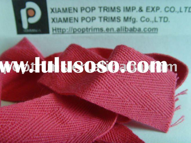 Red coloured natural cotton webbing