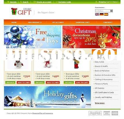 Web Page Design,Creative Gifts E-commerce Website Design Service (Rent or Buyout)
