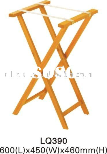 Wooden Hotel Foldable Luggage Rack Stand