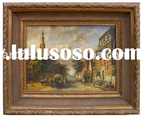 oil painting Wooden frame