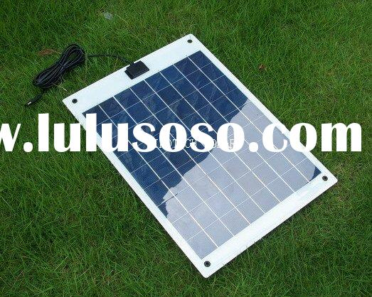 12V Semi flexible solar battery charger kit