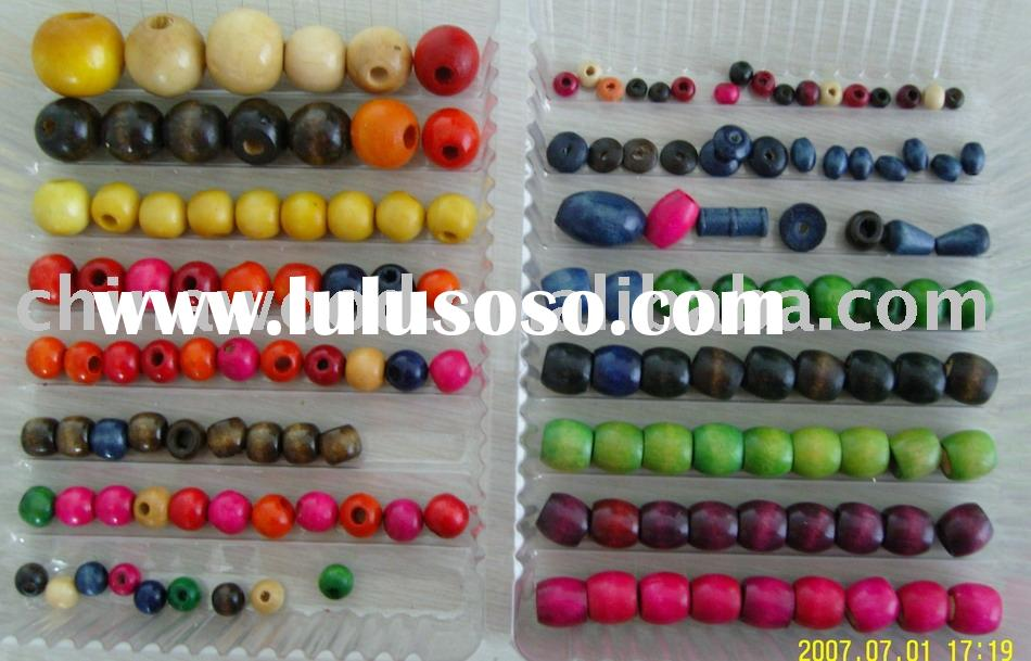 6mm to 25mm Colored Round Wood Bead for necklace