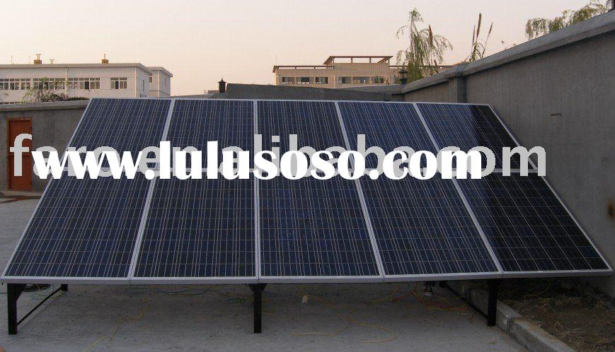 Cheap solar electricity home system