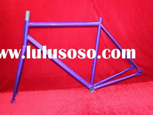 Fixed Gear CR-MO Steel Purple Bicycle Frames