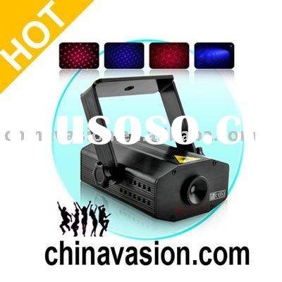 Laser Show Projector with Sound Activation (100mW Red/Purple)