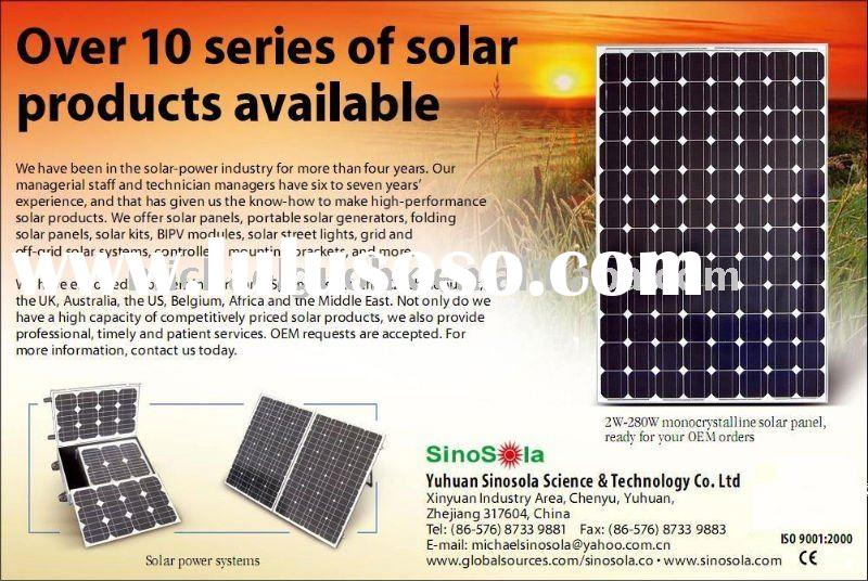 Off Grid & Grid Solar Power System(SHS)