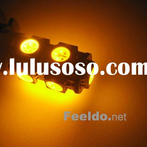 T10 194 168 W5W 5-SMD High Power LED Light Bulb Amber