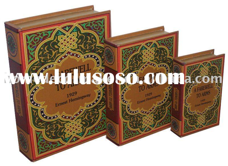 Wooden Book Boxes