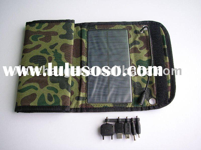 flexible solar charger for mobile phone/mp4  6W solar panel 5.5V 1100mA output
