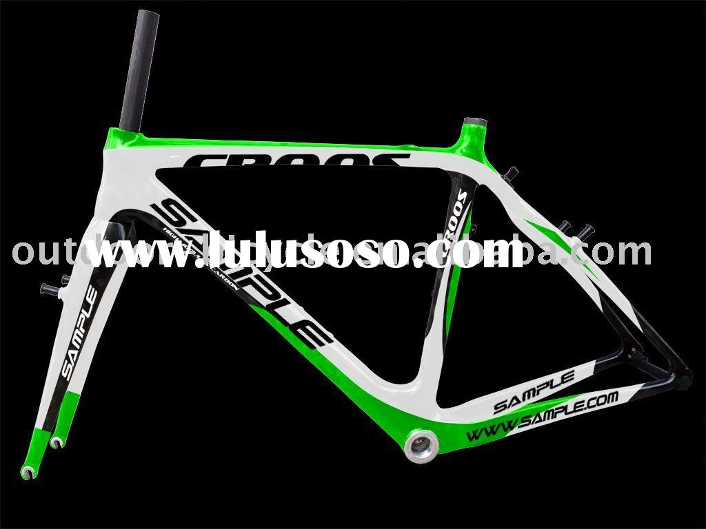 inside cable carbon cyclocross bike frame 2011 new design