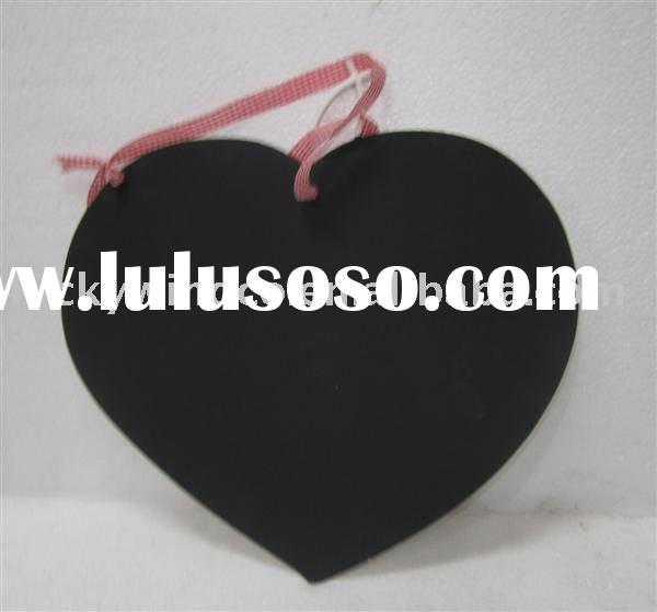 unique  mdf wood crafts with heart blackboard
