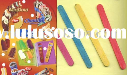 wooden sticks for ice cream  (ice lolly sticks popsicle sticks )