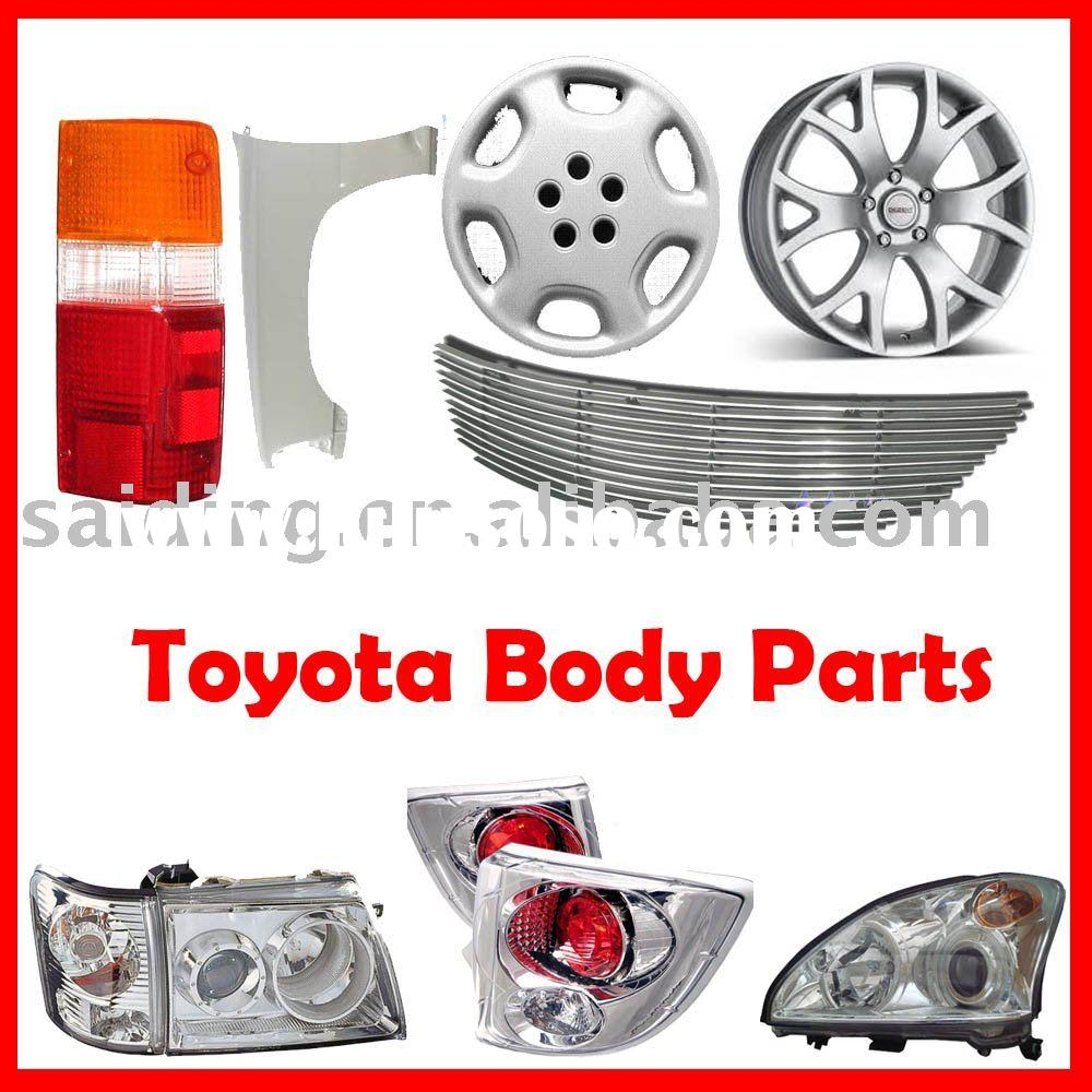 Auto body parts Toyota(Headlight,Headlamp,Taillight,Mirror,Bumper,Door,Grill)