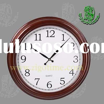 Big size wooden wall clock