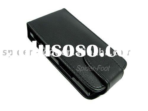 Black Flip Leather Case for Nokia X3  phone case