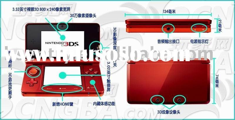 Game case protection Hard crystal case for Nintendo 3DS console crystal case game accessy