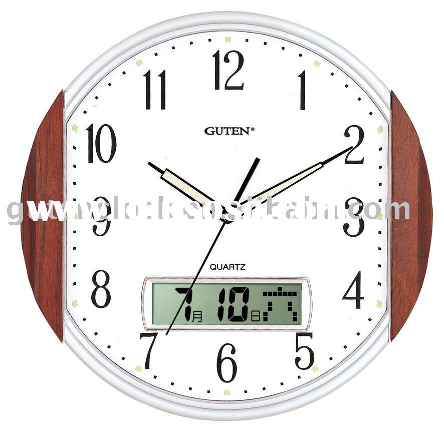 Wall Clock with Day / Date / Display