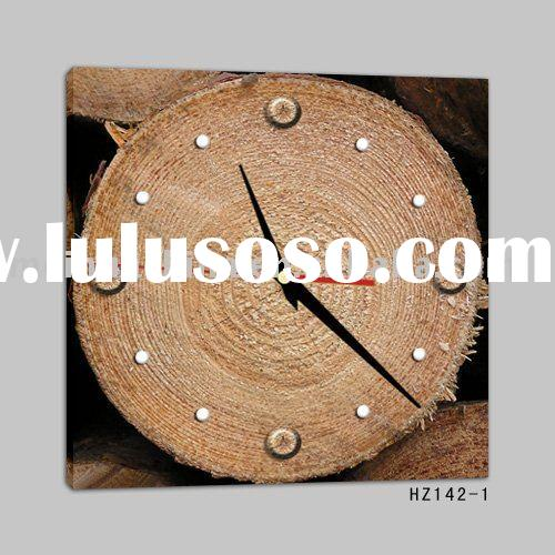 Wooden Wall Painting Clock