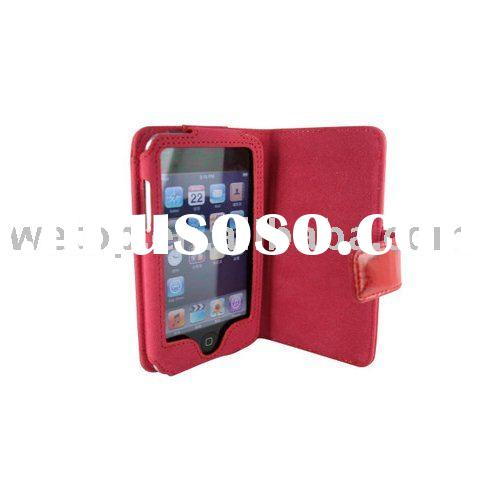 leather bag case for Apple ipod touch2 touch3 touch4