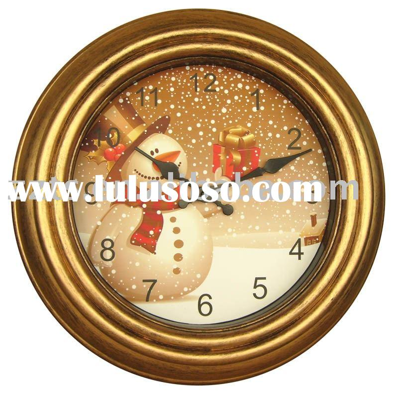 "wall clock-15"" large imitate wooden clock"