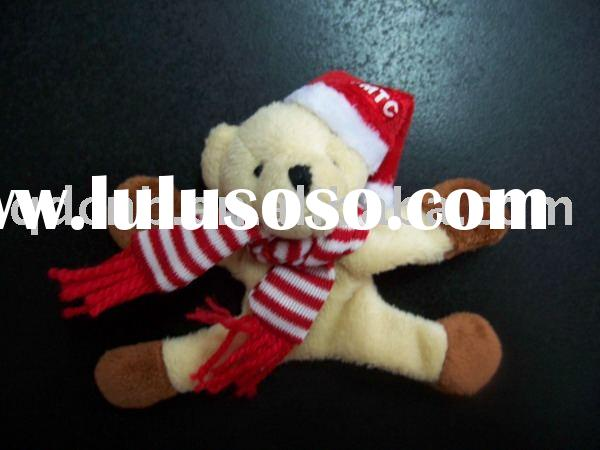 Magnet Bear Mini Plush Magnetic Bear with Scarf Miniature Bear Mini Plush Magnet Christmas Bear