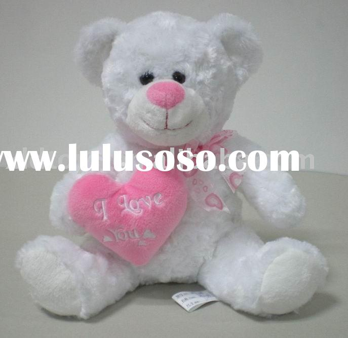Valentine plush bear toy