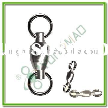 fishing tackle accessories Ball bearing swivel with two solid ring with costlock snap