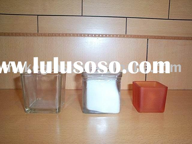 square glass candle holder/glass vase