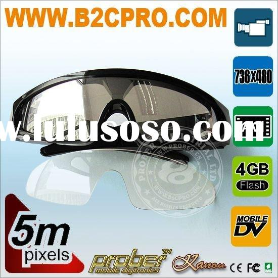 High definition pc Camera video glasses with 4GB buildin memory