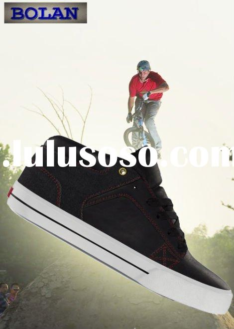 Hot sell cheap fashion leather skate skateboard shoe